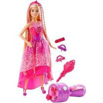 Barbie Princesa Penteados Mágicos com Acessórios - Mattel