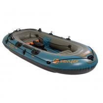 Barco Inflável Fish Hunter 4 Pessoas - Coleman - Azul - Coleman