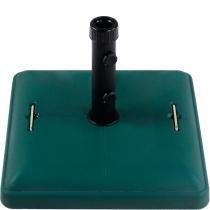 Base Quadrada com Rodas em Concreto 37kg para Ombrellone Verde 26703 - Belfix - Belfix