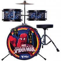 Bateria Infantil Marvel Spider 3 Peças 14 Polegadas Azul BIM-S1 - PHX - PHX
