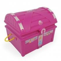 Baú Princesas Disney Guarda Brinquedos e Acessórios 18232 - Xalingo - Xalingo