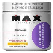 BCAA 4:1:1 Drink Pote 280g - Max Titanium - Laranja - Max Titanium