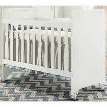 Berço Mini Cama com Rodízios e 3 Níveis de Altura - Carolina Baby