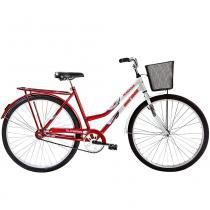 Bicicleta Aço Carbono Soberana CP Aro 26 Vermelha/Branca - Mormaii - Mormaii