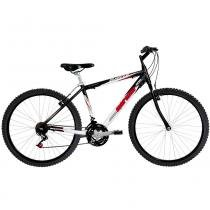 Bicicleta Alumínio B-Range Rígida Aro 26 Preta/Vermelha - Mormaii - Mormaii