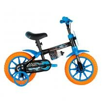 Bicicleta Aro 12 Hotwheels Preta - Caloi - Caloi