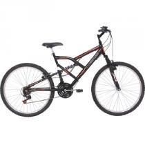 Bicicleta Aro 26 Full Fa 240 Suspension 18 Marchas Preto - Mormaii - Mormaii