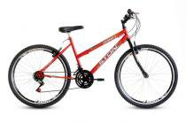 Bicicleta Aro 26 Smart GT 21V Feminina Stone Bike - Vermelha - Stone Bike