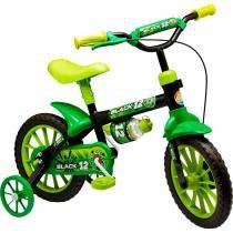 Bicicleta Black Aro 12 com Garrafinha Verde Nathor - Nathor