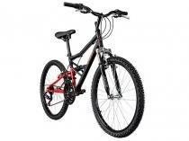 Bicicleta Caloi Shok Aro 24 21 Marchas - Quadro de Aço Freio V-brake