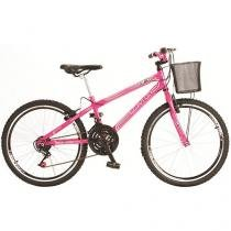 Bicicleta Colli Bike Allegra City Aro 24 - 21 Marchas com Cesta Freio V-brake