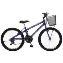 Bicicleta Colli Bike Juvenil Allegra City Aro 24 - 21 Machas Quadro em Aço Freio V-brake