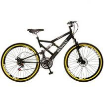 Bicicleta Colli Bike Renault Aro 26 21 Marchas Dupla Suspensão Quadro de Aço Freio a Disco