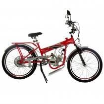 Bicicleta com Motor 2 Tempos Aro 24 TKX Power 48CC Vermelho - Track Bikes - Track Bikes