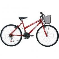 Bicicleta Feminina Aro 26 21 Marchas Bella Vermelha - Cairu - Cairu