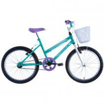 Bicicleta Feminina Cindy com Cesta Aro 20 Verde - Track Bikes - Track Bikes