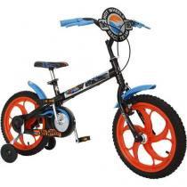 Bicicleta Infantil Caloi Hot Wheels Aro 16 - Pedivela Monobloco