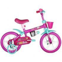 Bicicleta Infantil Caloi Kids Barbie Aro 12 - Freio Tambor
