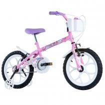 Bicicleta Infantil Feminina Pinky Aro 16 Rosa Fuccia - Track Bikes - Track Bikes