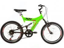 Bicicleta Infantil Track & Bikes XR 20 VP Aro 20 - 6 Marchas Full Suspension