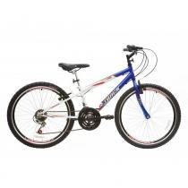 Bicicleta Juvenil Axess Aro 24 Quadro Rebaixado Azul/Branco - Track Bikes - Track Bikes