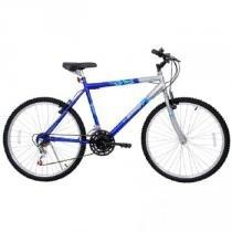 Bicicleta Masculina Aro 26 21 Marchas Flash Pop Bike Azul 310918 - Cairu - Cairu