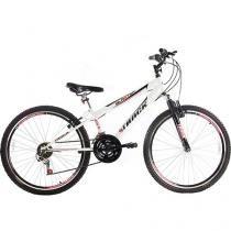 Bicicleta Track & Bikes Blaster W Aro 26 - 21 Marchas Suspensão Dianteira Freio V-brake