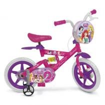 Bicicleta X Bike Aro 12 Infantil Princesas Disney Rosa - Bandeirante - Princesas Disney