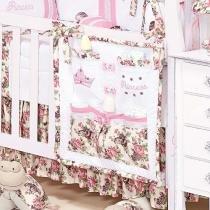 Bolsão Porta Objeto 100 Algodão para Quarto de Bebê Princess - Batistela - Batistela