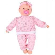 Boneca Baby Fofinha 106 Frases com Chupeta Diver Toys - Divertoys