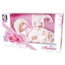 Boneca Bebezinho da Mamãe Deitado com Acessórios - Cotiplás