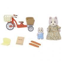 Boneca De Bicicleta com a Mamãe Sylvanian Families - Epoch Magia