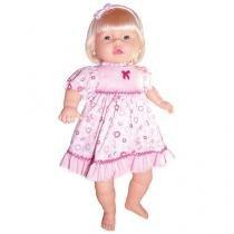 Boneca Fala Bebê com Cabelo com Acessórios - Sid-Nyl