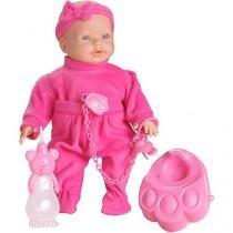 Boneca New Mini Bebê Mania Xixi com Acessórios - Roma Brinquedos