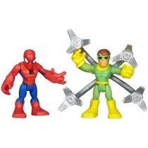 Boneco Spiderman e Doc Ock - Marvel Super Hero Adventures Hasbro
