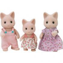 Bonecos Sylvanian Families Família dos Gatos - Epoch Magia