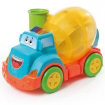 Brinquedo Caminhão Betoneira Mix Ball 828 Calesita - Laranja / Azul - Calesita
