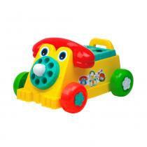 Brinquedo Educativo Rivaphone Didático Calesita Amarelo - Calesita