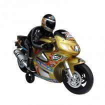 Brinquedo Moto Racer Movido a Fricção Dourado 703 - Lider - Lider Brinquedos