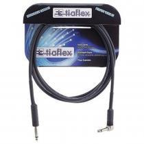 Cabo para Guitarra 0,20 P10/P10 Plug 90 3 Metros Preto - Tiaflex - Tiaflex