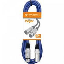 Cabo para Microfone 10 Metros Player Azul - Hayonik - Hayonik