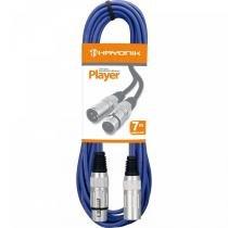 Cabo para Microfone 7 Metros Player Azul - Hayonik - Hayonik