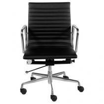 Cadeira Aço Cromado para Escritório Giratória - Ór Design Office Eames Esteira Baixa