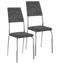 Cadeira de Cozinha 2 Peças Móveis Carraro - Clássica 1719