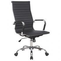 Cadeira de Escritório Giratória Base Cromada - Travel Max Presidente