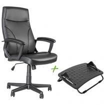 Cadeira de Escritório Giratória Courino - Travel Max MB-9007 + Apoio para os Pés
