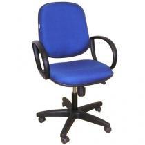 Cadeira Diretor Giratória Regulável com 5 Rodízios - Multivisão - Azul
