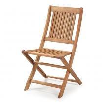Cadeira Dobrável sem Braços para Áreas Externas em Madeira Eucalipto - Maior Durabilidade - Jatobá - CasaTema