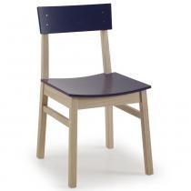 Cadeira DUO Madeira maciça com Assento e Encosto Anatômico - Pintura em Laca Roxa - CasaTema