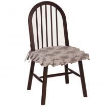 Cadeira Hannover em Madeira Maciça e Acabamento em PU Capuccino Tecido 52 - Seiva